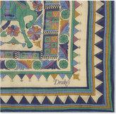 Drakes Buddhist Rider Cotton-cashmere Pocket Square