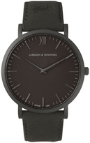 Larsson & Jennings Lugano 40mm Matte Black / Black Leather