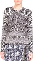 Altuzarra Patchwork Paisley-Print Sweater, Gray