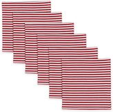 Peppermint Stripe Napkins in Red (Set of 6)