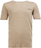 Roberto Collina chest pocket T-shirt - men - Linen/Flax - 46