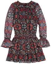Ella Moss Girls' Floral Bell-Sleeve Dress - Big Kid