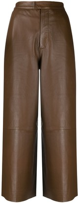 Remain High-Waisted Cropped Trousers