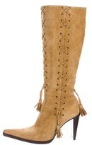 Cesare Paciotti Suede Knee-High Boots