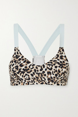 The Upside Water Leopard Larri Printed Stretch Sports Bra - Leopard print