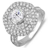 DazzlingRock Collection 3.60 Carat (Ctw) 14k White Gold Round Diamond Semi Mount Round Diamond for Center Engagement Bridal Ring (No Center Stone) (Size 8)