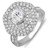 DazzlingRock Collection 3.60 Carat (Ctw) 14k White Gold Round Diamond Semi Mount Round Diamond for Center Engagement Bridal Ring (No Center Stone) (Size 9)