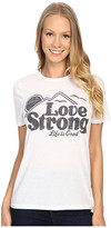 Life is Good Love Strong Mountain Cool Tee