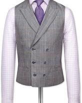 Charles Tyrwhitt Grey check British Panama luxury suit waistcoat