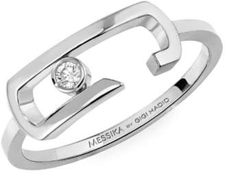Messika By Gigi Hadid Move Addiction 18K White Gold & Diamond Ring