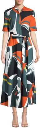 Lafayette 148 New York Augustina Geometric Print Midi Dress