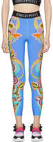 Emilio Pucci Blue Graphic Leggings