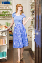 Shabby Apple Garden Party Skirt Blue
