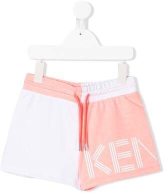 Kenzo Colour Block Logo Print Shorts