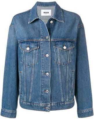 MSGM rear print denim jacket