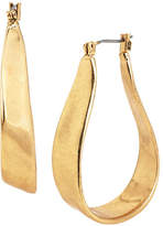Kenneth Cole New York Gilded Lapis Metal Hoop Earring
