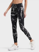 DKNY Floral Leggings With Reflective Tape