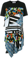 MSGM layered multi-print T-shirt dress - women - Silk/Cotton - S