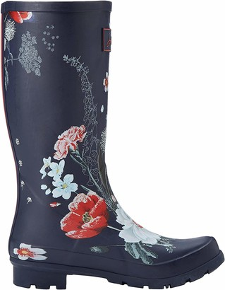 Joules Women's Roll Up Welly Wellington Boots