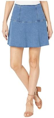 Free People Highlands Denim Skirt (Blue) Women's Skirt