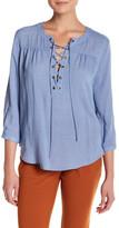 Blu Pepper Long Cold Shoulder Shirt