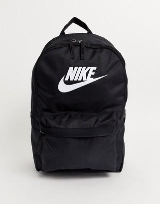 Nike logo backpack in black