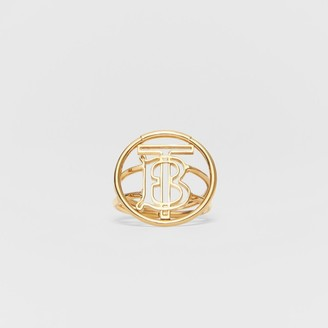 Burberry arge God-pated Monogram Motif Ring