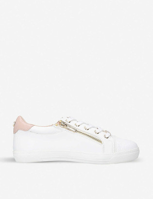Carvela Jagged zip-detail faux-leather trainers