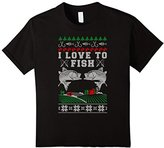 Men's I Love to Fish Official Ugly Christmas Sweater 2XL