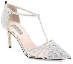 Sarah Jessica Parker Women's Carrie T-Strap Pumps - Silver - Size 35.5 (5.5)