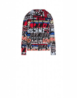 Love Moschino Logo Racing Stretch Sweatshirt Woman Multicoloured Size 38 It - (4 Us)