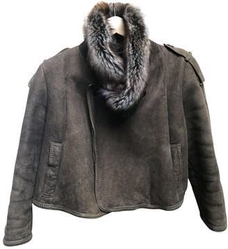 Fratelli Rossetti Brown Fur Leather jackets