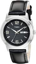Timex Men's T2E561 Elevated Classics Dress Leather Strap Watch
