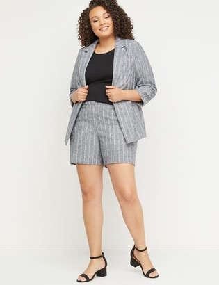 Lane Bryant Mid-Rise Linen Short