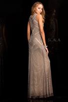 Scala 48730 Beaded Chiffon Long Prom Dress