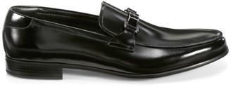 Prada Spazzalato Brushed Leather Loafers