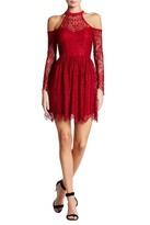 Trixxi Lace Cold Shoulder Dress (Juniors)