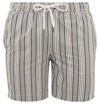 Onia Charles Striped Swim Shorts - Mens - Grey Multi