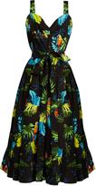 Marc Jacobs Parrot-print stretch-cotton dress