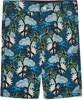 Stella McCartney Palm Tree-Print Cotton Shorts