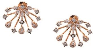 Dana Rebecca Designs 14kt Rose Gold Diamond Lobe Earrings