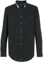 Givenchy distressed denim shirt - men - Cotton/Spandex/Elastane - S