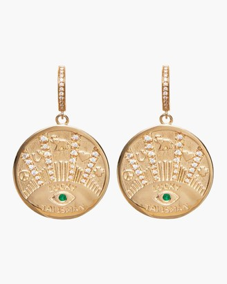 Marlo Laz Talisman Coin Earrings