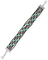 Lucky Brand Beaded Leather Bracelet