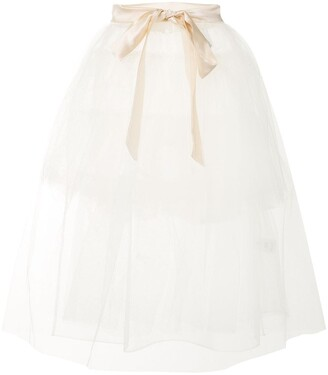Simone Rocha Sheer Ruffled Apron Skirt