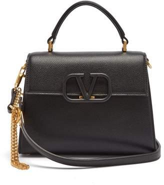 Valentino V-sling Medium Grained-leather Cross-body Bag - Womens - Black