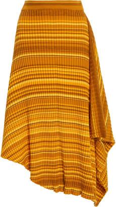 J.W.Anderson Infinity Asymmetric Striped Wool Skirt