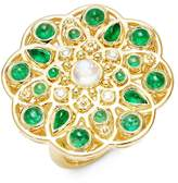 Temple St. Clair Women's CL Color 18K Yellow Gold Mosaic Statement Ring