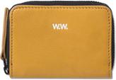 Wood Wood Tan Leather Card Zip Wallet