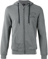 Paul & Shark logo print zipped hoodie - men - Cotton - L